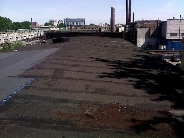 ремонт кровли на ООО ЗДТ «Реком», состояние крыши до начала работ