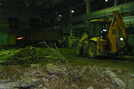 Устройство бетонных промышленных полов, подготовка