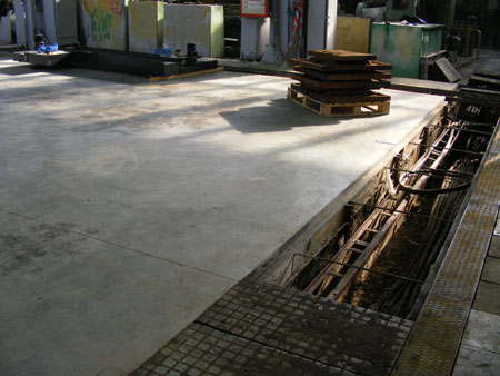 Заливка фундаментов под оборудование