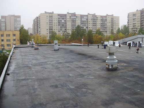 начало ремонта кровли на автоцентре «Киа»